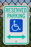 Estacionamento Reserved Imagem de Stock Royalty Free