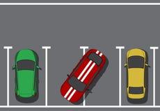 Estacionamento ruim Imagens de Stock