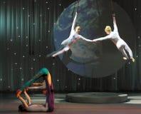 Estacionamiento acrobático del circo Imágenes de archivo libres de regalías