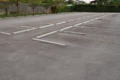 Estacionamiento al aire libre vacío Foto de archivo libre de regalías