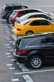 Estacionamiento colorido Imagen de archivo
