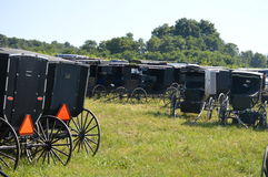 Estacionamiento de Amish fotos de archivo libres de regalías