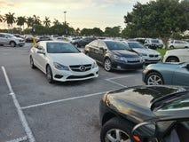 Estacionamiento de la alameda de Boca Raton Foto de archivo libre de regalías