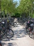 Estacionamiento de la bici Fotos de archivo libres de regalías