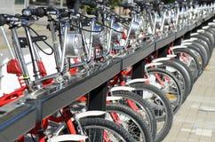 Estacionamiento de la bicicleta Imagen de archivo