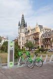 Estacionamiento de la bicicleta en Batumi Fotos de archivo libres de regalías