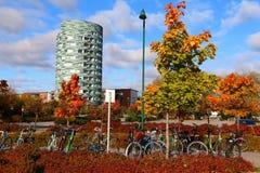 Estacionamiento de la bicicleta en Finlandia Fotografía de archivo libre de regalías