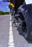 Estacionamiento de la motocicleta Imágenes de archivo libres de regalías