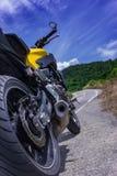Estacionamiento de la motocicleta Fotos de archivo