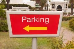 estacionamiento de la muestra imagen de archivo