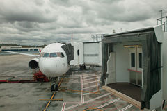 Estacionamiento de los aviones Fotos de archivo