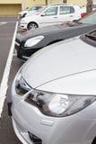Estacionamiento de los coches Fotos de archivo libres de regalías