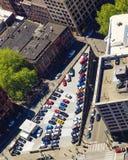 Estacionamiento de Triamgular desde arriba Foto de archivo libre de regalías