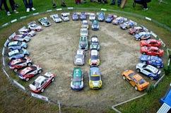 Estacionamiento del coche de la reunión de Rc Fotos de archivo libres de regalías
