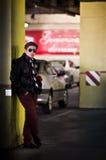Estacionamiento del coche del adolescente Imagen de archivo libre de regalías