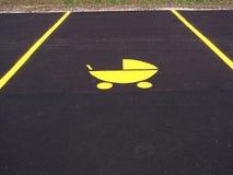 Estacionamiento del cochecillo de bebé Imagen de archivo