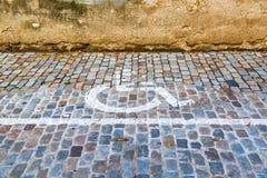 Estacionamiento discapacitado Imagen de archivo libre de regalías