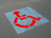Estacionamiento lisiado imagen de archivo