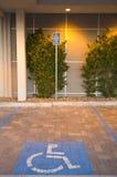 Estacionamiento lisiado Foto de archivo libre de regalías