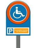 Estacionamiento lisiado Imágenes de archivo libres de regalías