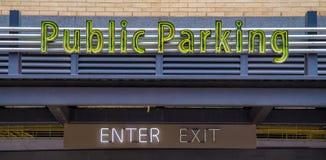 Estacionamiento público Imágenes de archivo libres de regalías