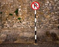 Estacionamiento prohibido Fotografía de archivo
