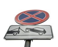 Estacionamiento prohibido de la muestra foto de archivo libre de regalías