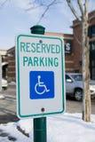 Estacionamiento reservado Imagen de archivo libre de regalías