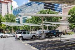 Estacionamiento solar Imágenes de archivo libres de regalías