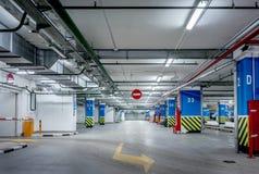 Estacionamiento subterráneo Fotografía de archivo