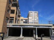 Estacionamiento subterráneo en abajo ciudad Fotografía de archivo