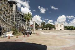 Estacionamiento Sur, Amador, a Cidade do Panamá imagens de stock