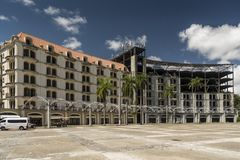 Estacionamiento Sur, Amador, a Cidade do Panamá fotografia de stock royalty free