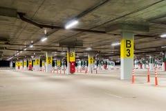 Estacionamiento vacío del coche Imagen de archivo