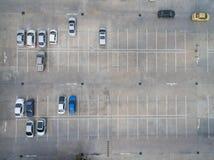 Estacionamientos vacíos, visión aérea Fotos de archivo libres de regalías