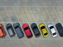 Estacionamientos vacíos, visión aérea Fotografía de archivo