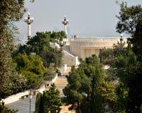 Estacione daqui até o 20 de janeiro o monumento em Baku, capital de Azerbaijão Imagem de Stock Royalty Free