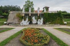 Estacione Mondo Verde, uma cópia da fonte do Trevi em Roma fotografia de stock royalty free