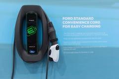 Estaciones de carga de Ford EV Fotos de archivo libres de regalías