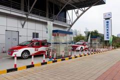 Estaciones de carga del coche eléctrico de Shenzhen Imágenes de archivo libres de regalías