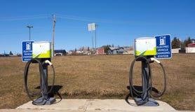 Estaciones de carga eléctricas en Dawson Creek Fotografía de archivo libre de regalías