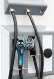 Estaciones de carga para los vehículos eléctricos Fotografía de archivo