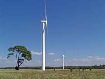 Estaciones de la energía eólica Imagen de archivo libre de regalías