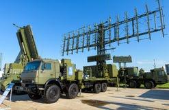 Estaciones de radar móviles rusas en MAKS-2017 Imagen de archivo