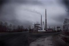 Estaciones eléctricas de Narva Foto de archivo libre de regalías