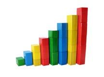 Estadística coloreada Foto de archivo