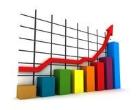 estadísticas 3d Foto de archivo libre de regalías