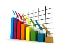 estadísticas 3d Fotos de archivo libres de regalías