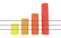 Estadísticas anaranjadas redondas Fotografía de archivo