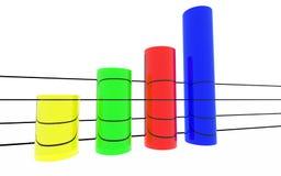 Estadísticas coloreadas redondas Fotos de archivo